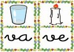 va ve 150x106 Tarjetas silábicas para trabajar en Educación Infantil vocabulario silabas recursos para maestros recursos para el aula RECURSOS EDUCATIVOS recursos didacticos letras leer lectura fichas de lengua escuela en la nube educacion infantil blog educativo aprender a leer