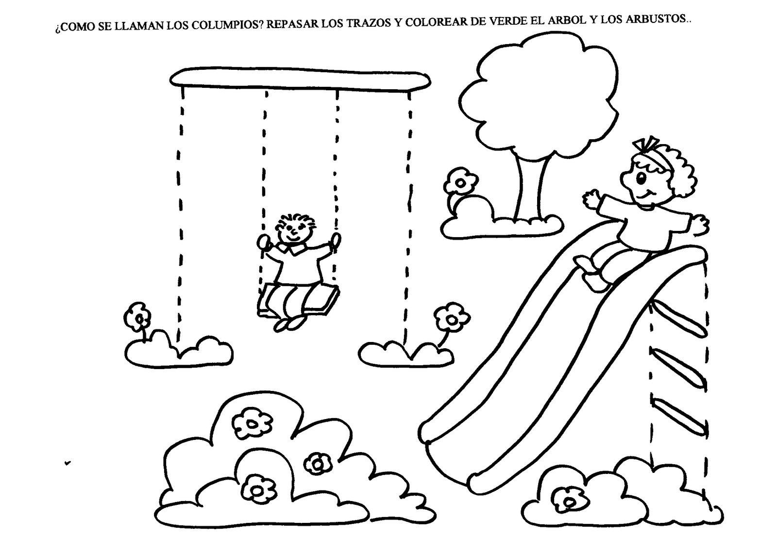 Excelente Jardín De Infantes Para Colorear Imprimible Foto - Dibujos ...