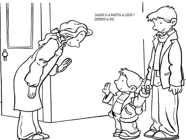 Normas de cortesia imagenes para pintar para niños - Imagui