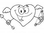 san valentin, enamorados, dibujos para colorear