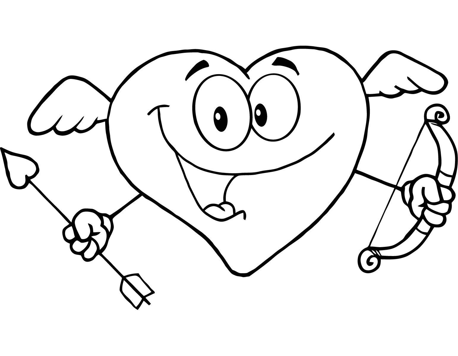 Dibujos de San Valentín para colorear | Escuela en la nube