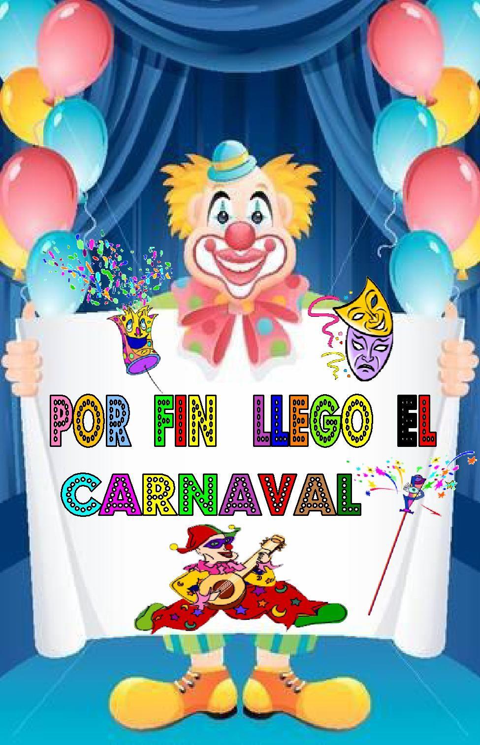 Carteles para decorar en carnaval escuela en la nube for Puertas decoradas con payasos