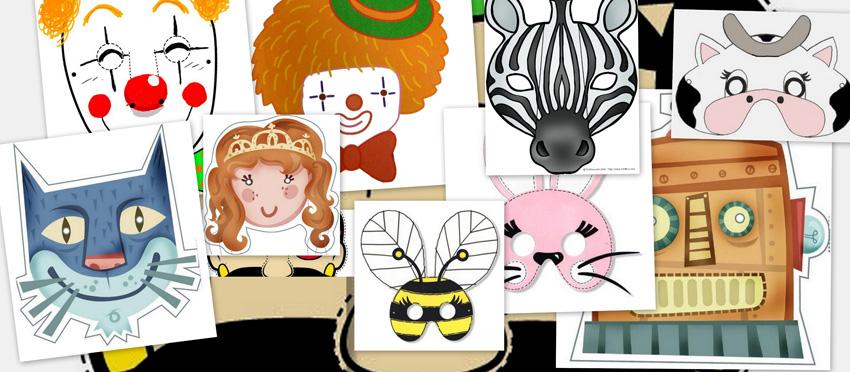 Caretas de colores para carnaval, caretas carnaval, actividades carnaval, recursos aula, recursos educativos, recursos maestros