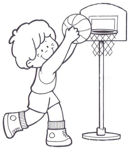 Dibujos de deportes para imprimir y colorear - Escuela en la nube