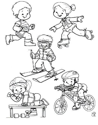 Dibujos de deportes para imprimir y colorear - Escuela en ...