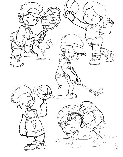 Excelente Deportes Para Colorear Para Niños Cresta - Dibujos de ...