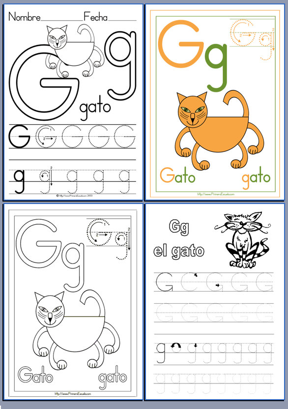 De la A a la Z. Lectoescritura con las letras del abecedario
