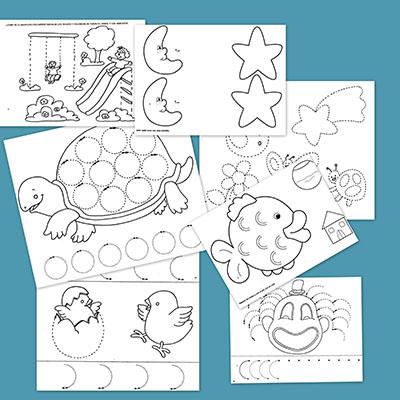 Grafomotricidad para niños de tres años - Escuela en la nube