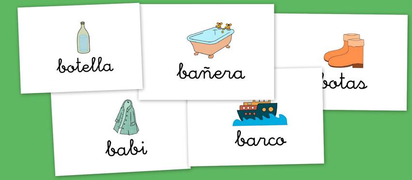 Escuela en la Nube: Bits de imágenes para vocabulario. Letra B