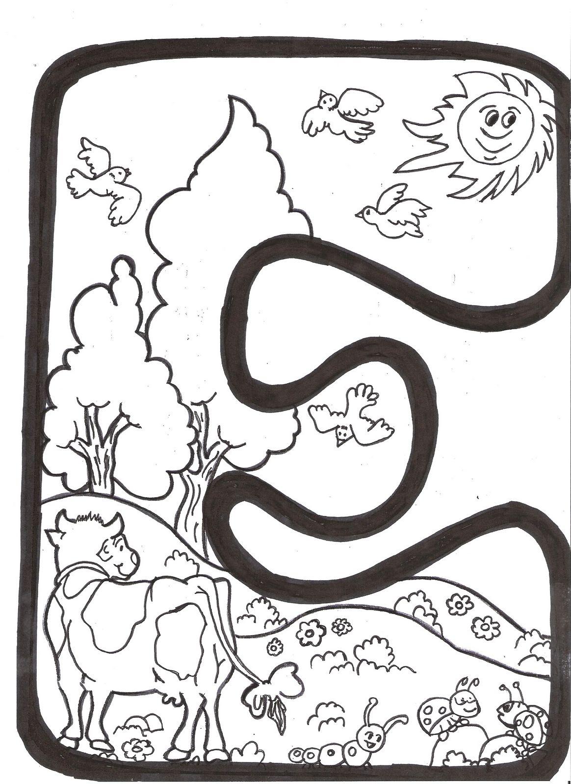 Letras para crear el cartel de primavera
