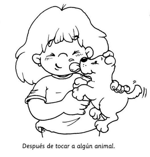 Dibujos para colorear: Higiene en los niños - Escuela en la nube