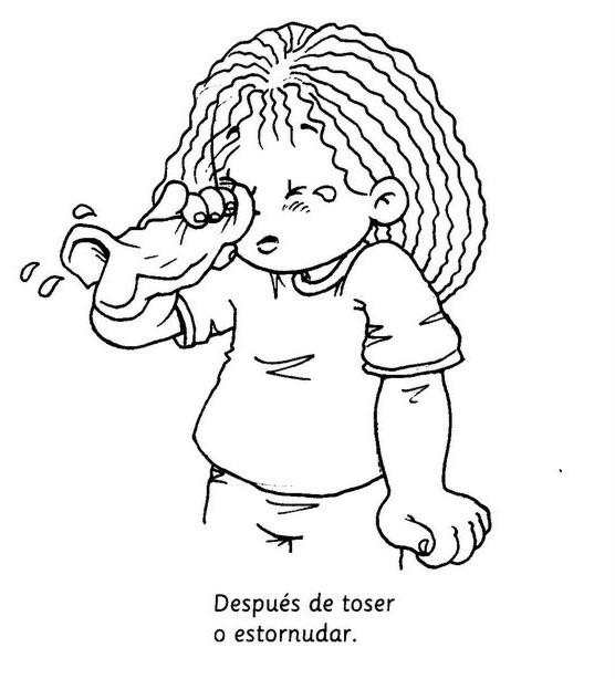 Habitos de higiene en niños dibujos para colorear - Imagui