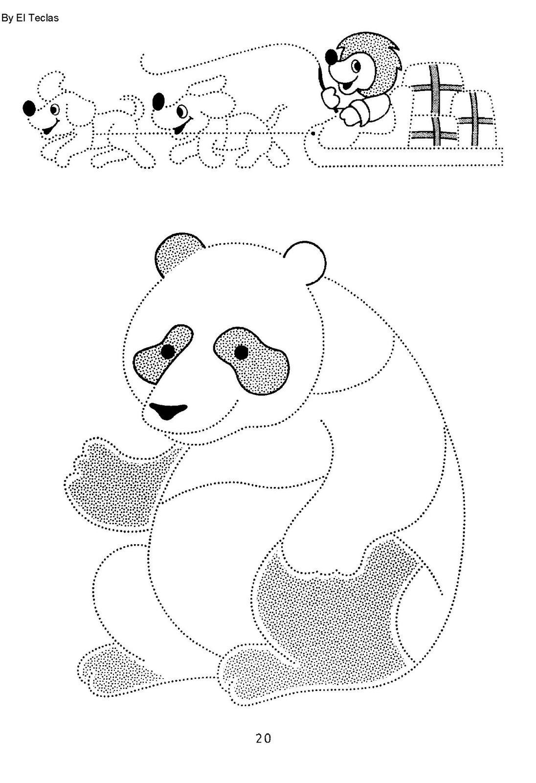 Dibujos para colorear y practicar la caligrafía uniendo puntos