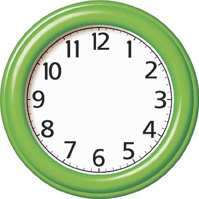Aprende las horas del reloj escuela en la nube - Dibujos de relojes para imprimir ...