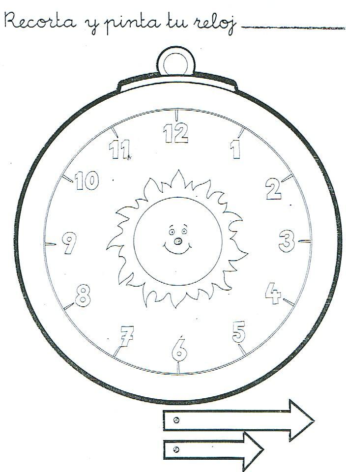 Horas18 - Dibujos de relojes para imprimir ...