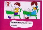 Carteles para establecer normas básicas en clase
