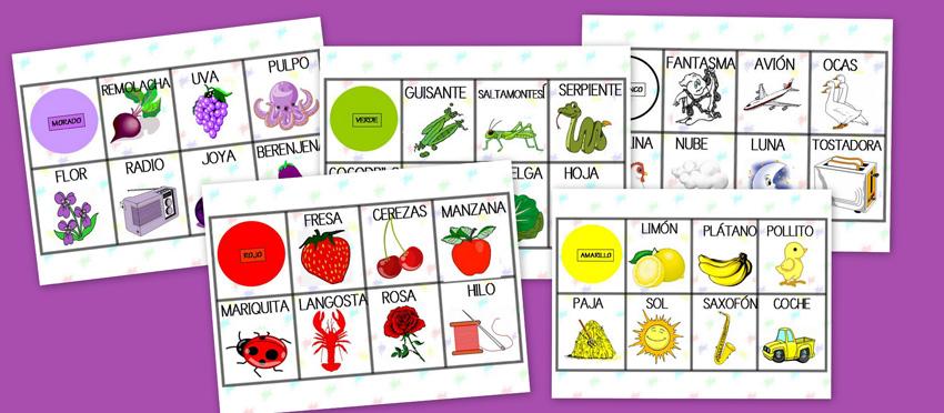 Objetos Con i a Color Objetos de Colores Típicos