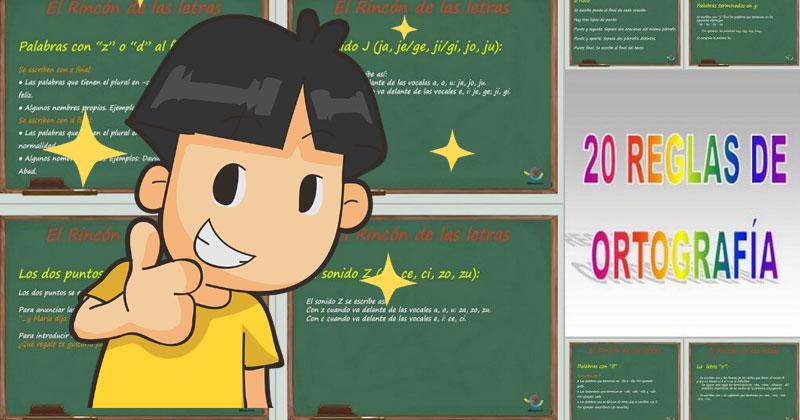 reglas ortográficas, reglas de ortografía