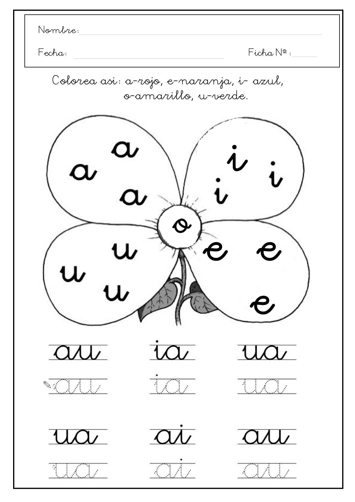 Dibujos Para Colorear De Las Vocales En Inglés Imagui