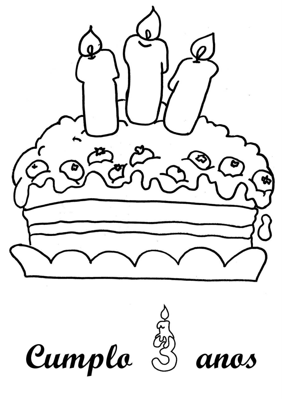 Dibujos para colorear. Fiesta de cumpleaños