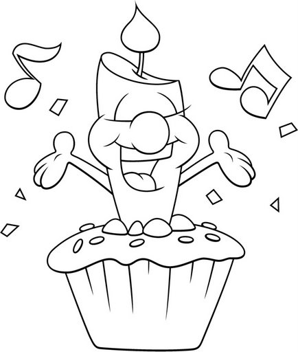 Felicitaciones de cumpleaños para colorear e imprimir - Imagui