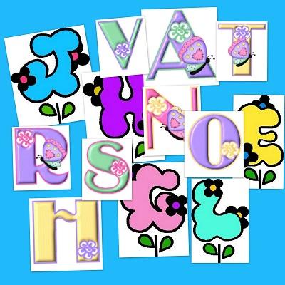 letras del abecedario en primavera