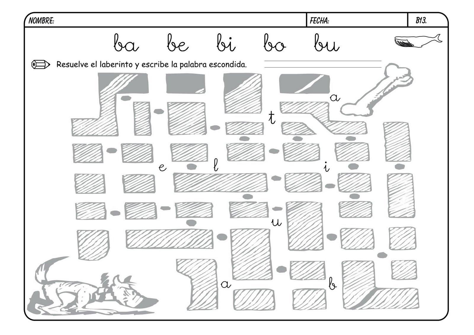 Lectoescritura con la B