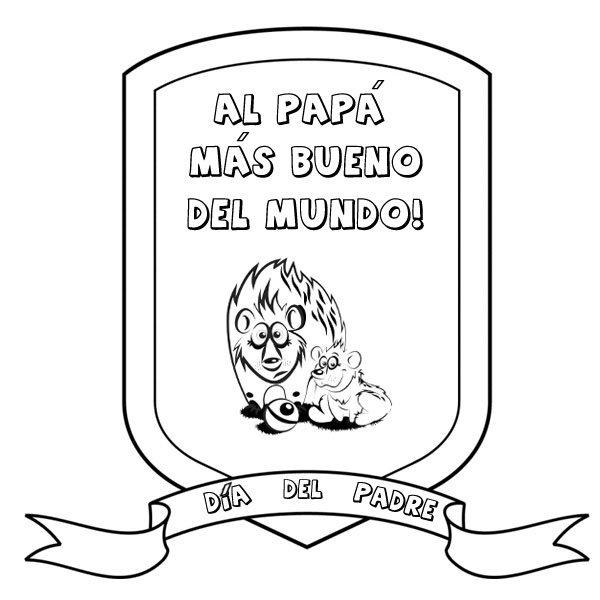 Diplomas Para Colorear Del Día Del Padre Escuela En La Nube