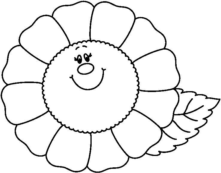 Dibujos De Flores Para Recortar Y Colorear: La Primavera Con Flores Para Colorear