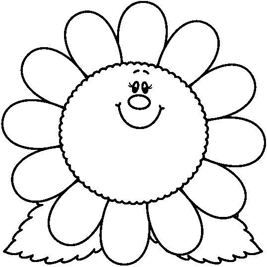 La primavera con flores para colorear - Escuela en la nube