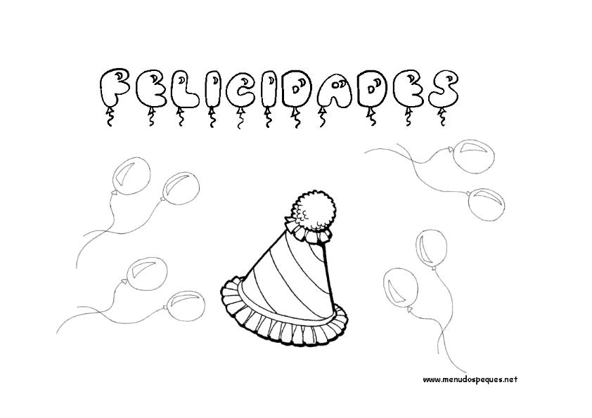 globos y gorro_001  Escuela en la nube  Recursos para ...