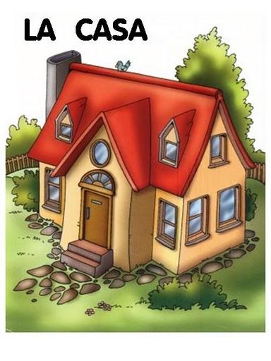 Fichas infantil partes y tipos de casas escuela en la nube - Tipos de tejados para casas ...