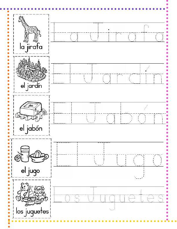 Lectoescritura con las letras del abecedario. Segunda parte