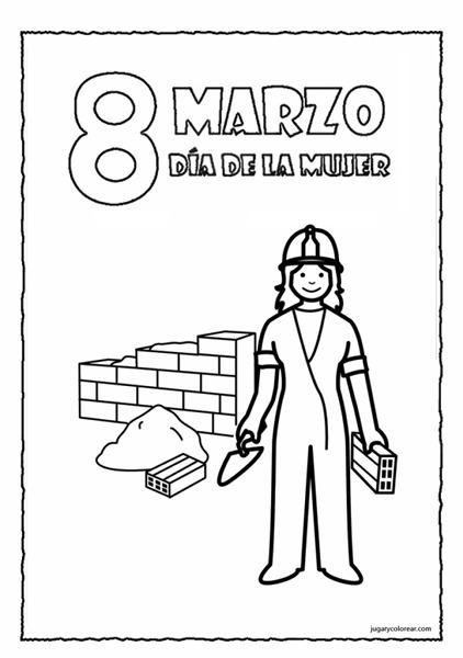 Dibujos para colorear: Día de la mujer trabajadora