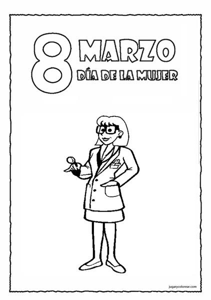 Dibujos Para Colorear Día De La Mujer Trabajadora Escuela En La