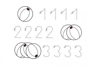 lectoescritura y colorea con los números