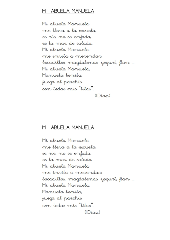 poemas para mi abuela