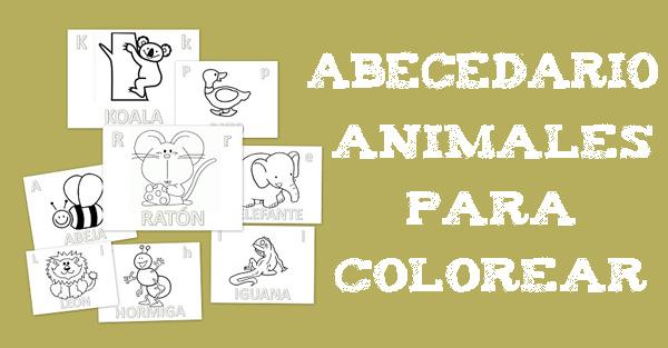 Abecedario Animal Para Colorear