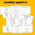 amarillo, colores, dibujos para colorear