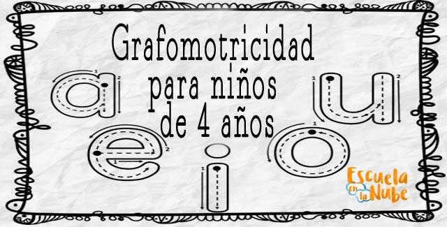 Fichas de grafomotricidad para niños de 4 años - Escuela en la nube