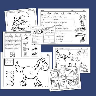 Fichas para practicar la lectoescritura con la C
