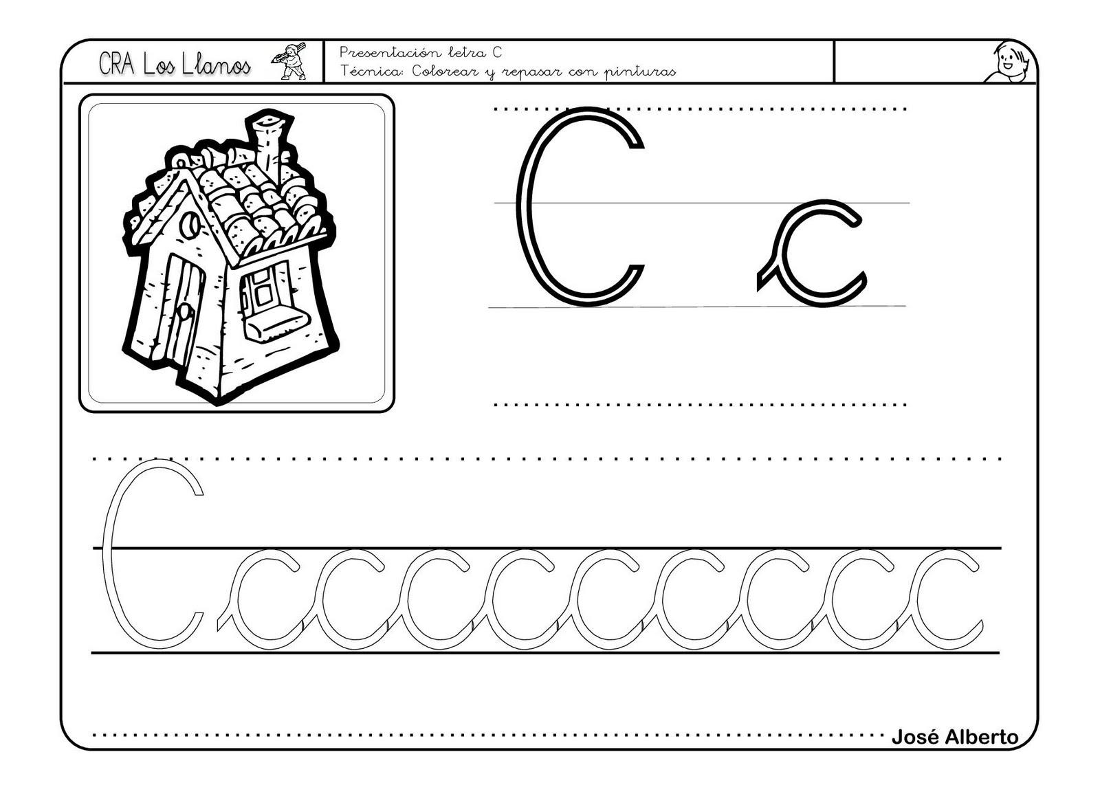 Lectoescritura con la letra C - Escuela en la nube