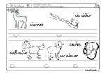 Fichas para repasar lectoescritura con la letra C