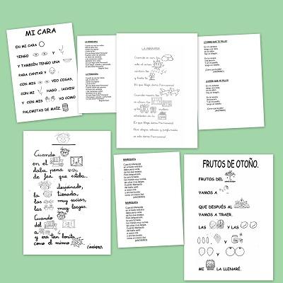 Poesías con pictogramas para leer