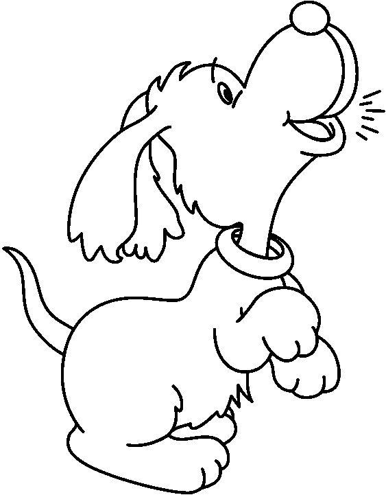 Un Perro Ladrando Para Colorear