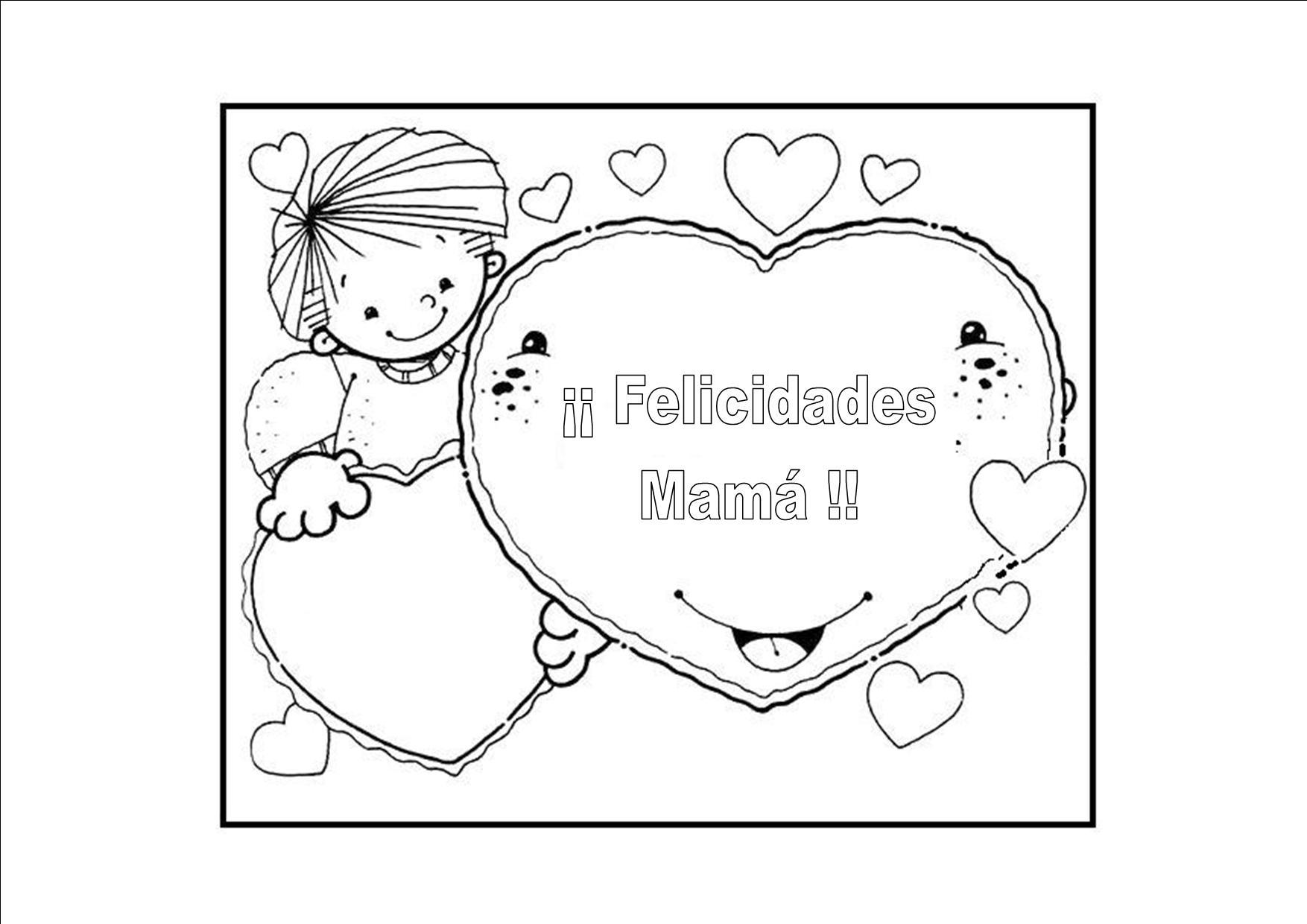 Dibujos Para Colorear Día De La Madre