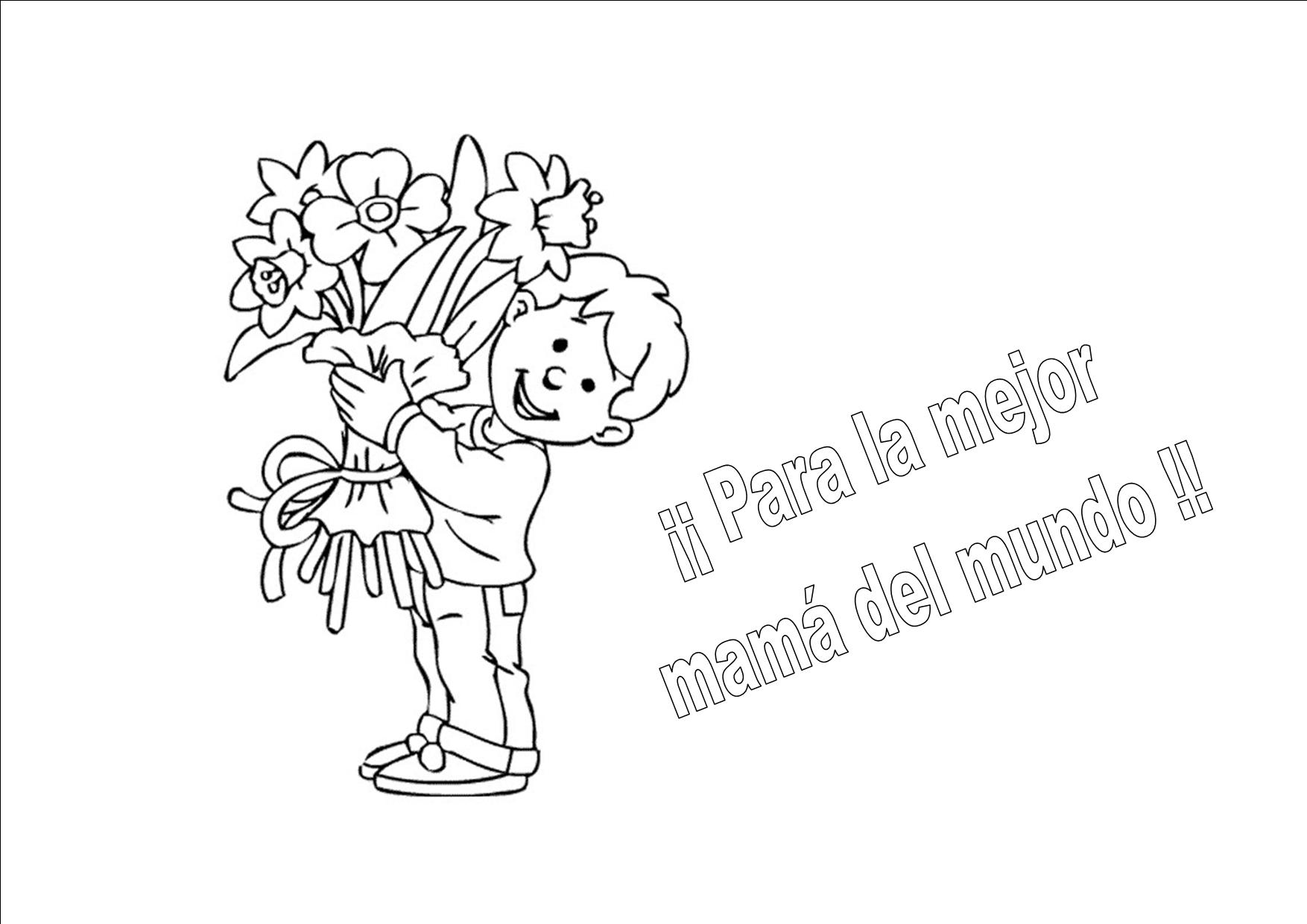 Dibujos para colorear Da de la madre