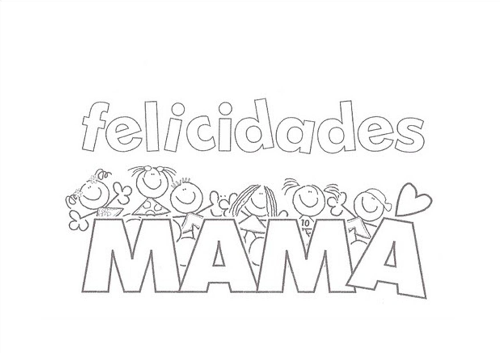 Dibujos para colorear: Día de la madre