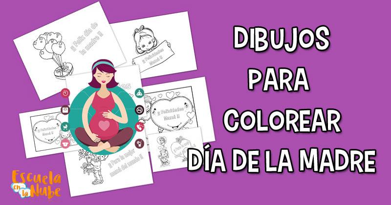 dibujos para mama, dibujos para colorear el dia de la madre