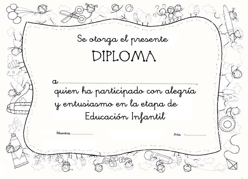Diploma En Blanco Para Imprimir